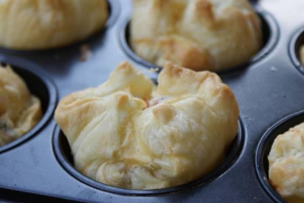 Party Muffins aus Blätterteig